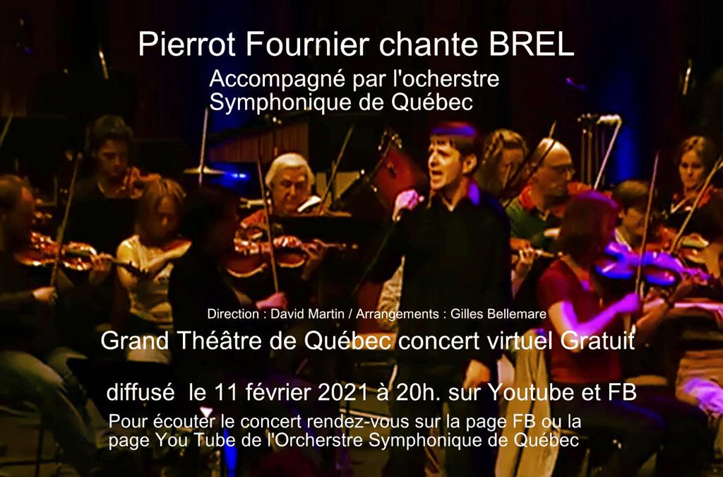 Pierrot chante Brel avec l'OSQ